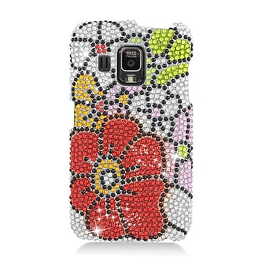 Insten Flowers Hard Diamond Case For Pantech Perception - Red/Green