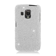 Insten Hard Diamond Cover Case For Pantech Perception - Silver