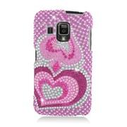Insten Hearts Hard Diamante Case For Pantech Perception - Hot Pink