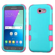 Insten Tuff Hard Dual Layer Rubber Silicone Cover Case For Samsung Galaxy J3 (2017) - Teal/Pink
