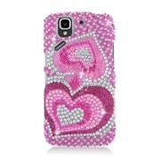 Insten Hearts Hard Diamond Cover Case For Pantech Flex P8010 - Hot Pink
