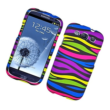 Insten Zebra Hard Rubber Coated Cover Case For Samsung Galaxy S3 - Colorful