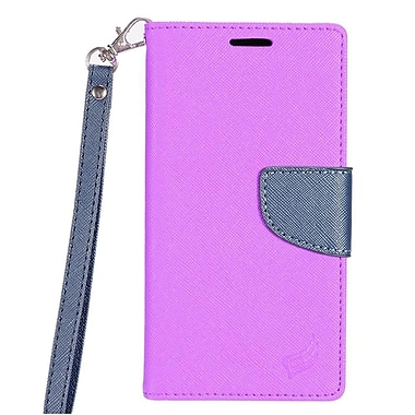 Insten PU Leather Wallet Flip Pouch Credit Card Stand Cover Case For LG Aristo - Purple