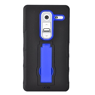 Insten Symbiosis Rubber Hybrid Hard Case w/stand For LG Class - Black/Blue