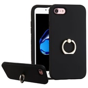 Insten Hard Dual Layer Silicone Case w/Ring stand For Apple iPhone 7 - Black