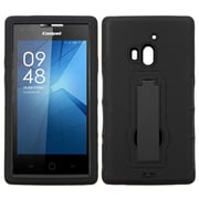 Insten Symbiosis Skin Dual Layer Rubber Hard Case w/stand For Coolpad Rogue - Black