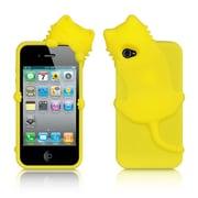 Insten Cartoon Cat Gel 3D Rubber Case For Apple iPhone 4/4S - Yellow