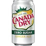 Canada Dry Zero Sugar Ginger Ale Soda, 12 oz., 24/Carton (00078000148169)