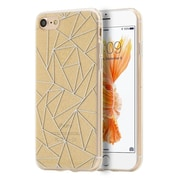 Insten Diamond Dazzle Diamond Dazzle TPU Rubber Skin Gel Back Case Cover For Apple iPhone 7 - Gold