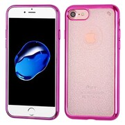 Insten Glittering Rubber Glitter Case For Apple iPhone 7 - Hot Pink