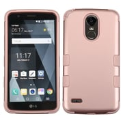 Insten TUFF Hybrid Dual Layer Protective Case [Military-Grade Certified] For LG Stylo 3 - Rose Gold/Rose Gold