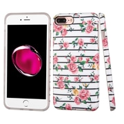 Insten Fresh Roses TPU Case For Apple iPhone 7 Plus - Pink/White