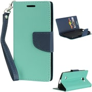 Insten Diary Leather Wallet Flip Card Pocket Stand Case Cover For LG Lancet VW820 - Teal/Navy Blue