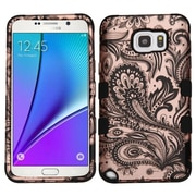 Insten Tuff Phoenix Flower Hard Dual Layer Silicone Case For Samsung Galaxy Note 5 - Rose Gold/Black