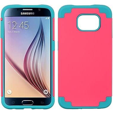 Insten Hybrid Hard TPU Dual Layer Cover Shockproof Case For Samsung Galaxy S6 - Hot Pink/Blue