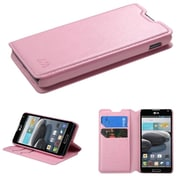 Insten Pink MyJacket Wallet Case Cover with Tray For LG Optimus F6 D500 / MS500