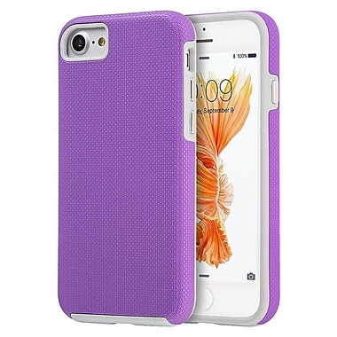 Insten Hard Dual Layer TPU Cover Case For Apple iPhone 7 - Purple/Gray