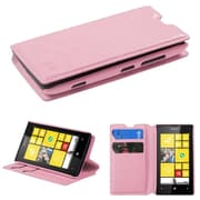 Insten Pink MyJacket Wallet Case Cover with Tray For NOKIA Lumia 520