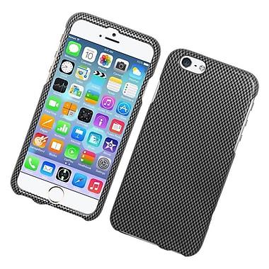 Insten Carbon Fiber Hard Rubber Case For Apple iPhone 6 / 6s - Gray/Black