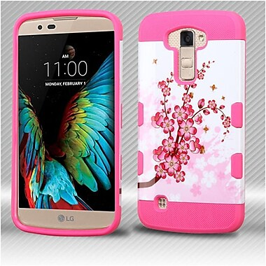 Insten Spring Flowers Hard TPU Case For LG K10 / Premier LTE - Pink/White