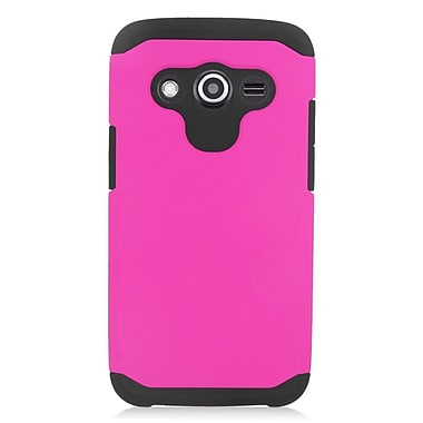 Insten Hard Dual Layer Silicone Case For Samsung Galaxy Avant - Hot Pink/Black