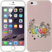 Insten TPU Imd Rubber Gel Back Case Love Pink For Apple iPhone 6 / 6s