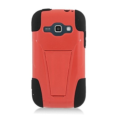 Insten Hard Dual Layer Plastic Silicone Case with stand for Samsung Galaxy Prevail 2/Ring - Red/Black