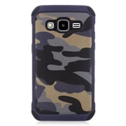 Insten Camouflage Hard Hybrid Rubber Silicone Case For Samsung Galaxy Core Prime - Gray
