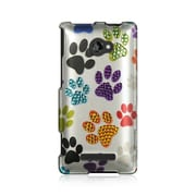Insten Hard Rubber Coated Case w/Diamond For HTC Windows Phone 8X - Colorful