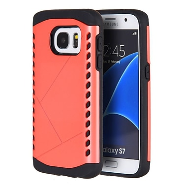 Insten Shocker Hybrid Hard Silicone Shockproof Case Cover For Samsung Galaxy S7 - Red/Black