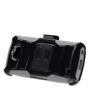 Insten Advanced Armor Hybrid Dual Layer Stand Holster Clip Case For LG K3 LS450 - Black/Gray