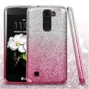 Insten Hard Dual Layer Glitter TPU Cover Case For LG Escape 3 / K7 / Treasure LTE - Pink