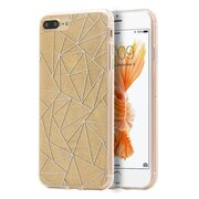 Insten Rubber Glitter Case For Apple iPhone 7 Plus - Gold