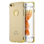 Insten TPU Case For Apple iPhone 7 - Gold/Clear