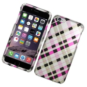 Insten Checker Hard Case For Apple iPhone 6s Plus / 6 Plus - Brown/Pink