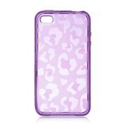 Insten Leopard Skin Gel Case For Apple iPhone 4/4S - Purple