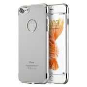 Insten TPU Cover Case For Apple iPhone 7 - Silver/Clear
