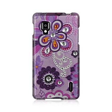 Insten Spot Diamond Bling Hard Back Cover Case For LG Optimus G LS970 Sprint - Purple Violet