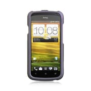 Insten Hard Rubber Cover Case For HTC One S - Purple
