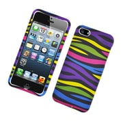 Insten Zebra Hard Rubber Coated Case For Apple iPhone 5 / 5S - Colorful