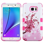 Insten Tuff Spring Flowers Hard Dual Layer Silicone Case For Samsung Galaxy Note 5 - Pink/White