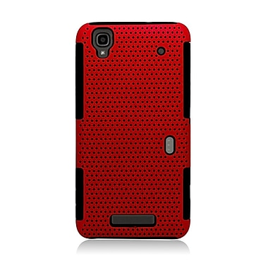 Insten Astronoot Hard Hybrid TPU Cover Case For ZTE Max/Max+ - Red/Black
