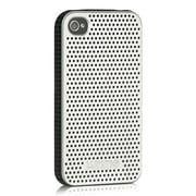 Insten Mesh TPU Case For Apple iPhone 4/4S - Silver/Black