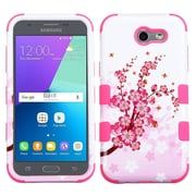 Insten Tuff Spring Flowers Hard Dual Layer Silicone Case For Samsung Galaxy J3 (2017) - Pink/White