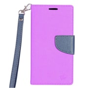 Insten PU Leather Wallet Flip Pouch Credit Card Stand Cover Case For HTC Bolt - Purple