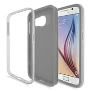 Insten Rubber Dual Layer Hard Case For Samsung Galaxy S6 - Gray/Silver