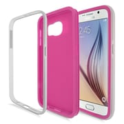 Insten Gel Dual Layer Hard Cover Case For Samsung Galaxy S6 - Hot Pink/Silver