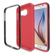 Insten TPU Hybrid Hard Cover Case For Samsung Galaxy S6 - Red/Black