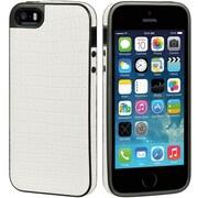 Insten Crocodile Gel Skin Case For Apple iPhone 5/5S - White