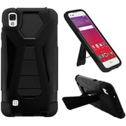 Insten Hard Hybrid Plastic Silicone Cover Case w/stand For LG X Style / Tribute HD - Black
